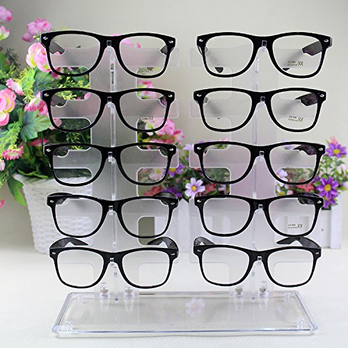 Sunglasses Glasses Acrylic Crystal Clear Display Retail Show Stand Holder Rack【Storm -