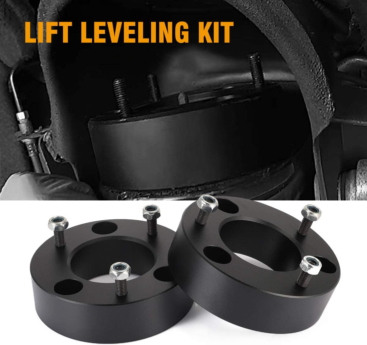 "NEVERLAND 2.5/""Front Leveling Lift Kits For 2004-2019 Ford F150 2WD//4WD Front Strut Spacer Suspension Lift Kits Lift Spacers"