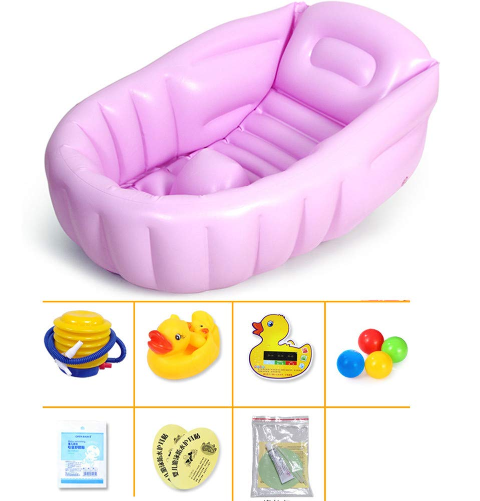 Yajun Bañera Bebé Plegable Inflable Baño Tina Bathtub Barril ...