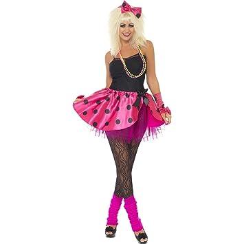 5d0b6d48c85a8 NET TOYS Neon Damenkostüm 80er Jahre Kostüm S 36/38 Popstar Tutu ...