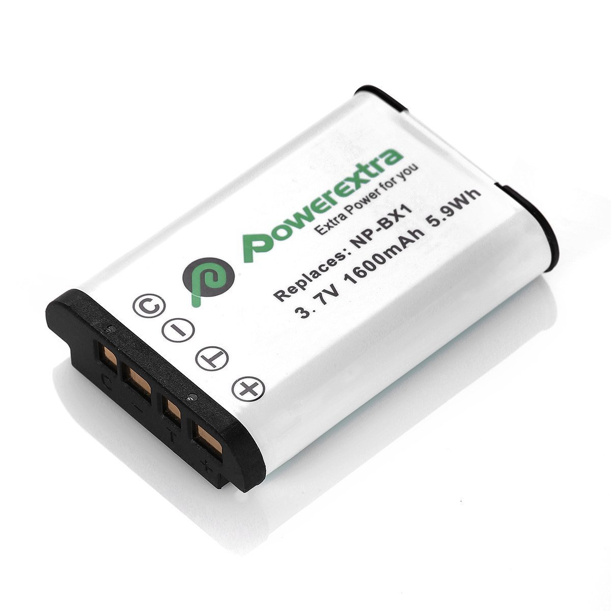 Powerextra 2 Pack Reemplazo Sony NP-BX1 Batería Li-ion para Sony NP-BX1 / M8 y Sony Cyber-shot DSC-RX100, DSC-RX100 II, DSC-RX100 III, DSC-RX100 V, DSC-RX100 IV, HDR-CX405