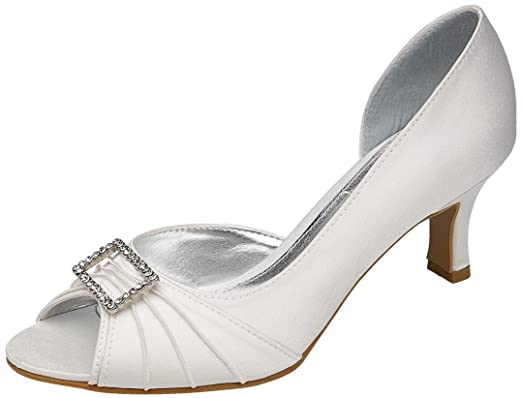 Christina Ivory Wedding Shoes UK Size 3 Wide Fit