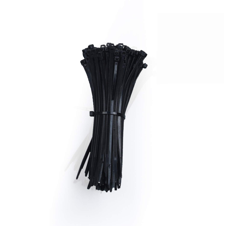 Zip Cable Ties Heavy Duty Strong Zip Ties in Bulk Self Locking Nylon Cable Management Industrial Multipurpose Durable Wire Ties 6In 200 Black