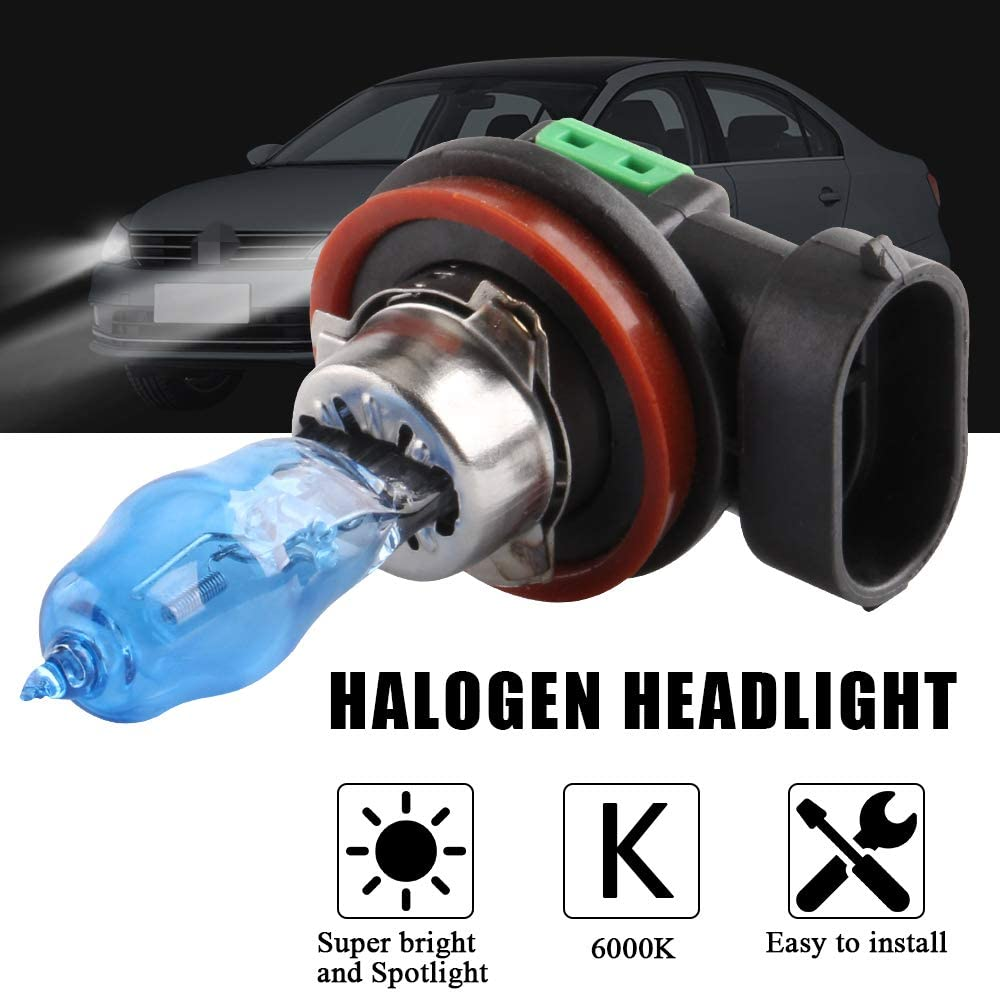 12V 100W 9005 2Pcs Super White LED Halogen Car Driving Headlight Fog Light Bulb