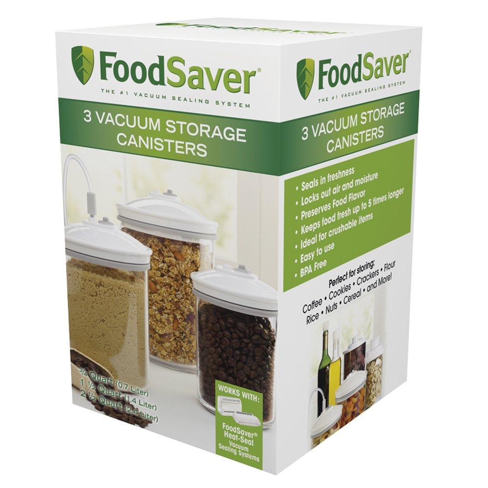 FoodSaver Vacuum Storange Canister Set, Round, 3-Pack