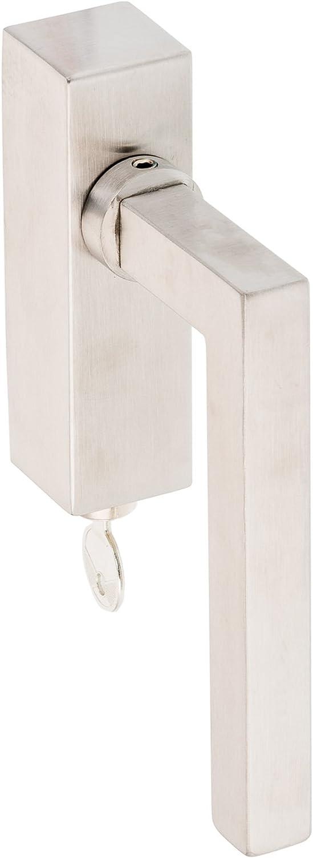 43 mm Abschlie/ßbarer Fenstergriff Square Min Stiftl/änge 35 mm V2A Edelstahl matt