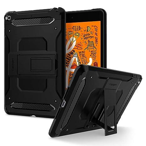 low priced 90c07 d350e Spigen Tough Armor Tech Works with iPad Mini 5 7.9 inch 2019 Case - Black