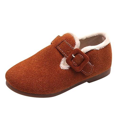 Botas Niña Invierno K-youth Zapatos con Forro Cálido Botines de Suede Boots Zapatos Niña