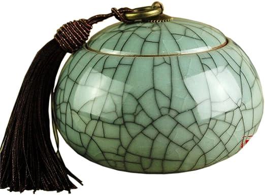 China ceramic jar gourd lotus tea caddy Tea Storage Canister Jar Container