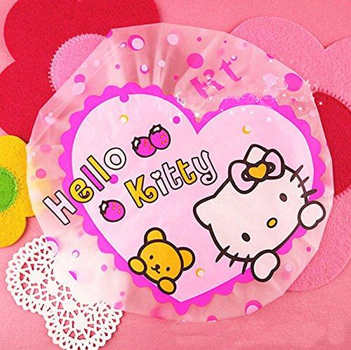 CJB Hello Kitty Bath Shower Caps Hats Heart (US Seller) ()