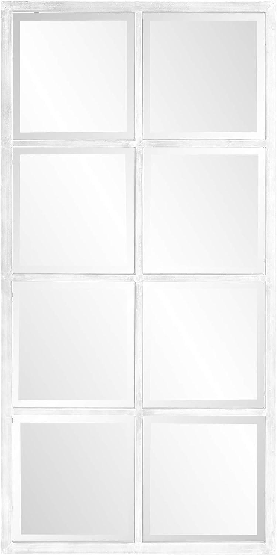 Howard Elliott Collection Atrium Windowpane Mirror, White Washed