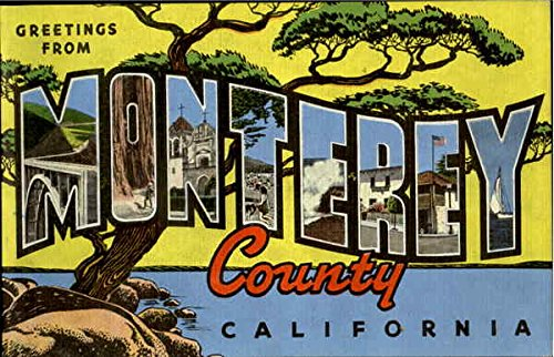 Greetings from monterey county monterey california original vintage greetings from monterey county monterey california original vintage postcard m4hsunfo