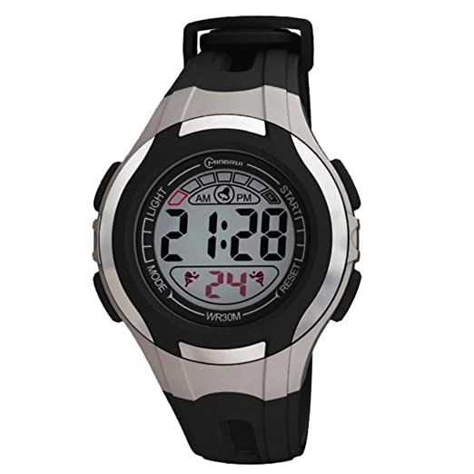 Reloj Concept - Reloj digital Mujer/Niño - Correa Plástico Negro - Esfera Redondo Fondo Gris - Marque Mingrui - mr8545-noir: Amazon.es: Relojes
