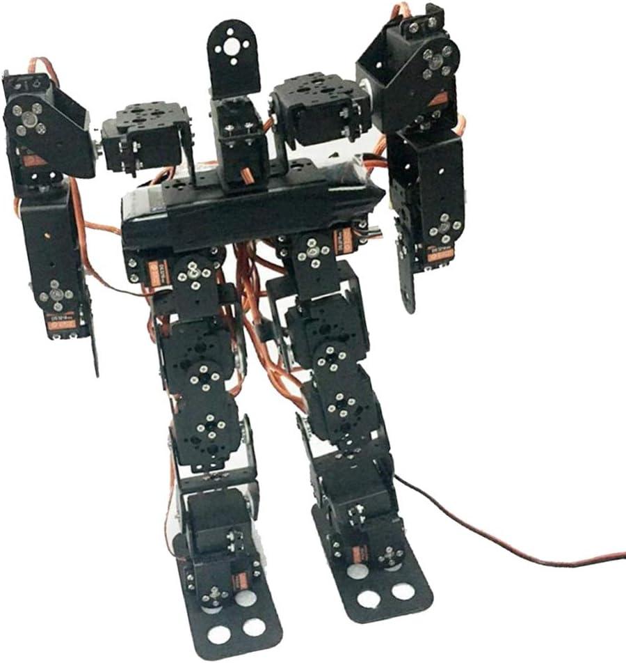 P Prettyia ロボットキット 17自由度 ヒューマノイド RCロボット 二足歩行ロボット 金属