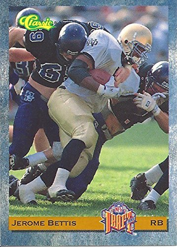 JEROME BETTIS NOTRE DAME UNIVERSITY COLLECTIBLE FOOTBALL CARD - 1993 CLASSIC NFL DRAFT FOOTBALL CARD #10 (LOS ANGELES RAMS) FREE ()