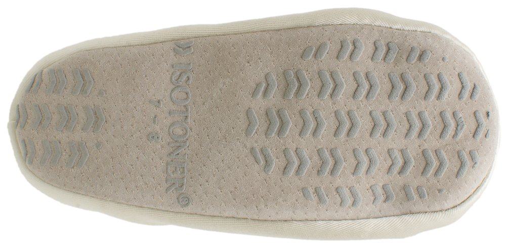 Isotoner Satin Pearl Ballerina Girl's Slippers Ivory Small 11-12 by ISOTONER (Image #8)