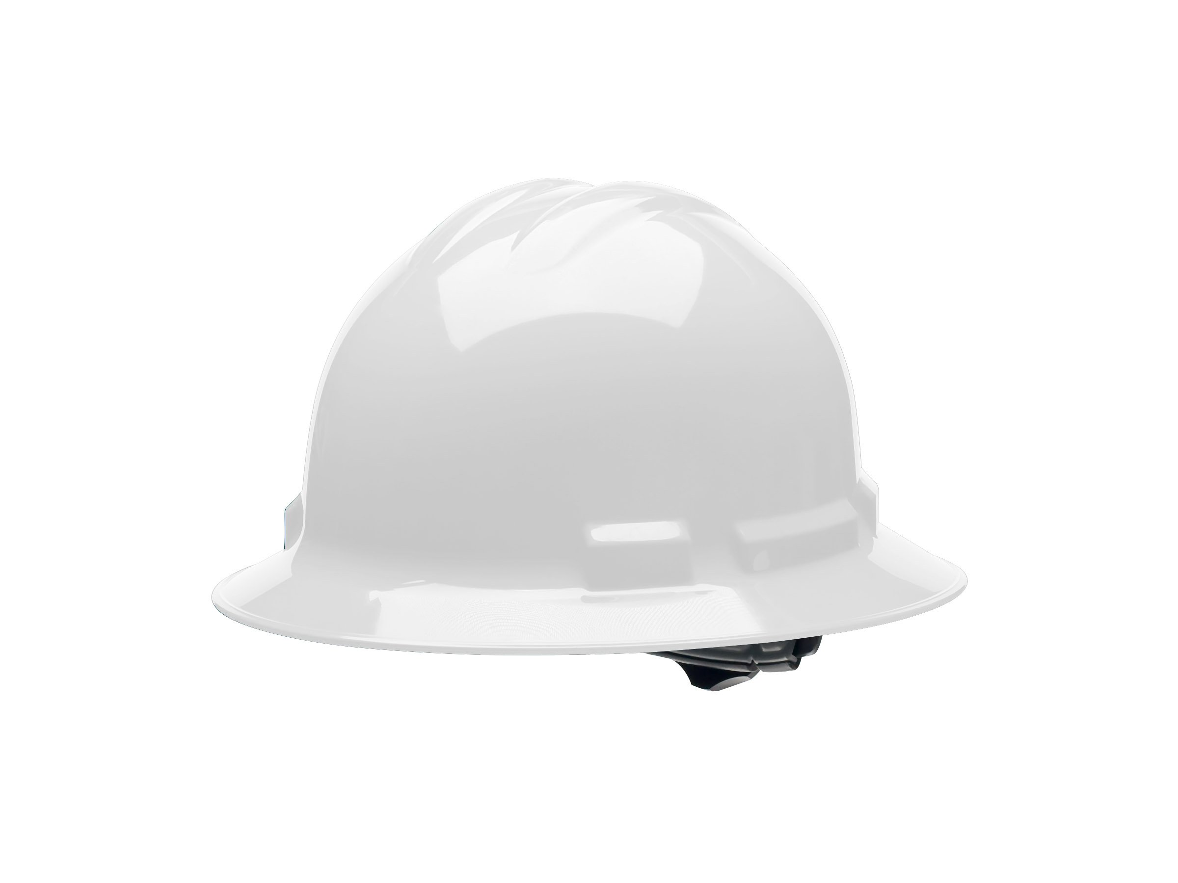Cordova H34R1 Duo Safety Full Brim Helmet, Nylon Ratchet Suspension, 4-Point, White, Large