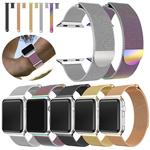 Alonea Milanese Stainless Steel Magnetic Watch Band For Apple Watch Series 3 38MM/42MM