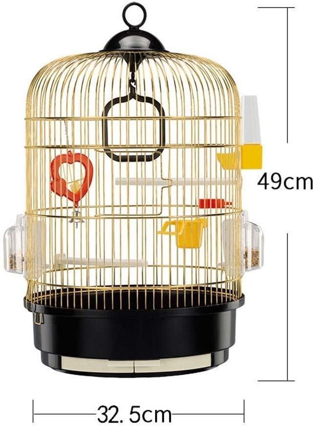 CLQya Jaulas de metal grande de acero inoxidable jaula de pájaros de la Pequeña y Mediana loro jaula de cría de hierro forjado,A: Amazon.es: Bricolaje y herramientas