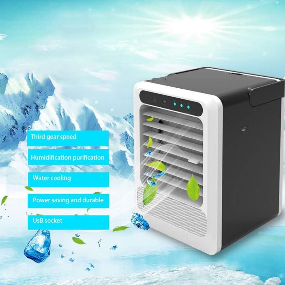 GAOJIN Aire Acondicionado Portatil,Purificador de Aire,enfriamiento Rápido, Fuerte Viento,Ahorro De Energía Duradero,Conector USB, Velocidad Tercer Engranaje para Oficina Salón: Amazon.es: Hogar