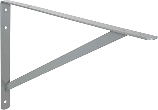 Toolerando Soporte de estante ángulo triángulo/Soporte escuadra, 210 x 300 mm, plateado