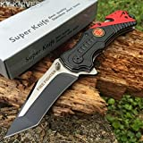 SNAKE EYE TACTICAL FIRE DEPARTMENT RESCUE STYLE ASSISTED OPENING KNIFE WITH CLIP