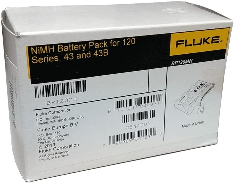 Scopemeter 120 Battery 3000mAh Replacement for Fluke Fluke 43B Power Quality Analyz BP120MH P//N B11483