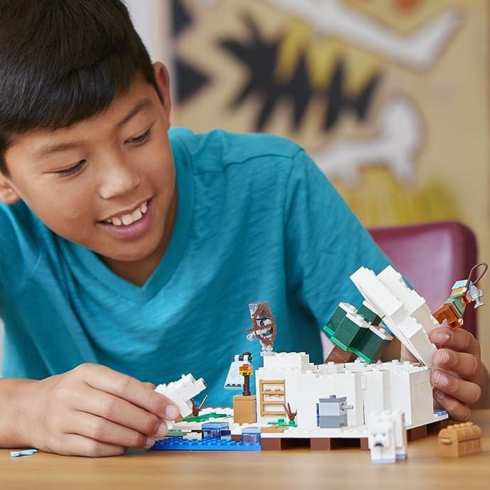 LEGO 乐高 Minecraft 我的世界系列 21142 北极冰屋积木玩具 6.3折$18.99史低 海淘转运到手约¥173