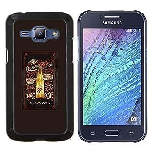 LECELL--Funda protectora / Cubierta / Piel For Samsung Galaxy J1 J100 -- Cerveza Marrón Verano botella de la bebida --