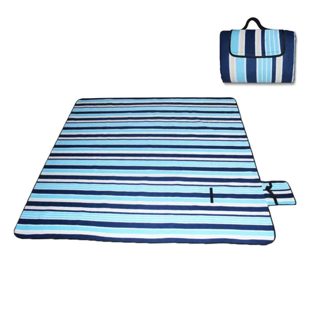 NLXTXQC Outdoor Picnic Blanket Waterproof Portable Folding Beach Mat Suede Waterproof Material Sponge Picnic Cloth Bottom (Color : B) by NLXTXQC