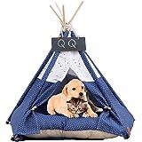 Pet Tent Dog & Cat Bed Soft Dog Tent & Pet Houses inomhus utomhus med kudde och tavla