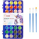 36 Colors Watercolor Paint,with 3 Paint Brushes,Watercolor Palette Paint Set for Adults and Kids,Art Supplies for…