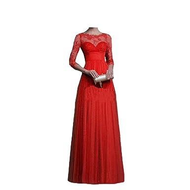 491e1bb8fe JESRKAS Formal Elegant Womens Floor-Length Evening Wedding Party Dress 3  Quarter Sleeve Chiffon Lace Maxi Long Dresses at Amazon Women's Clothing  store:
