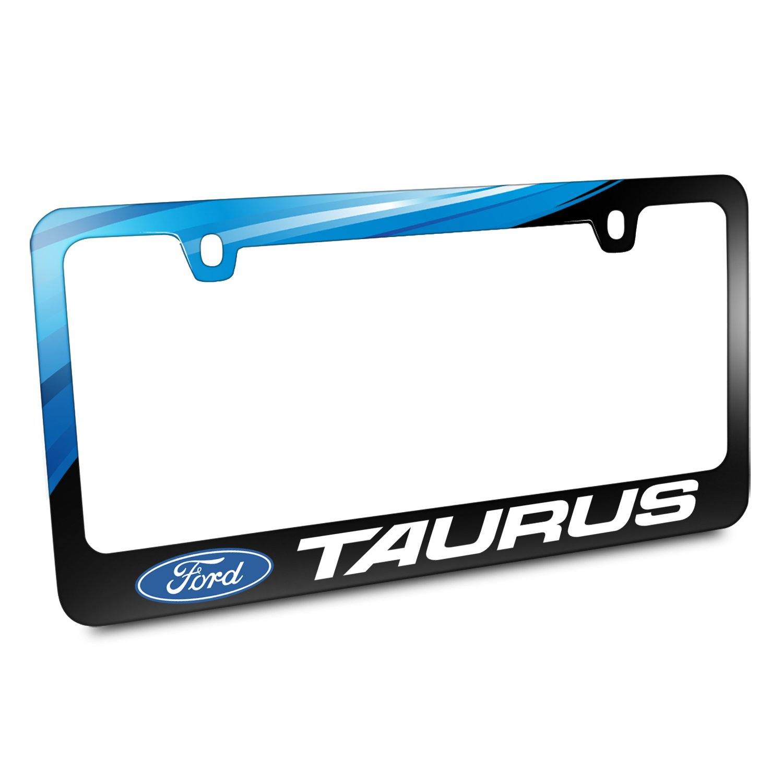 Ford Logo Taurus schwarz Metall Grafik Nummernschild Rahmen: Amazon ...