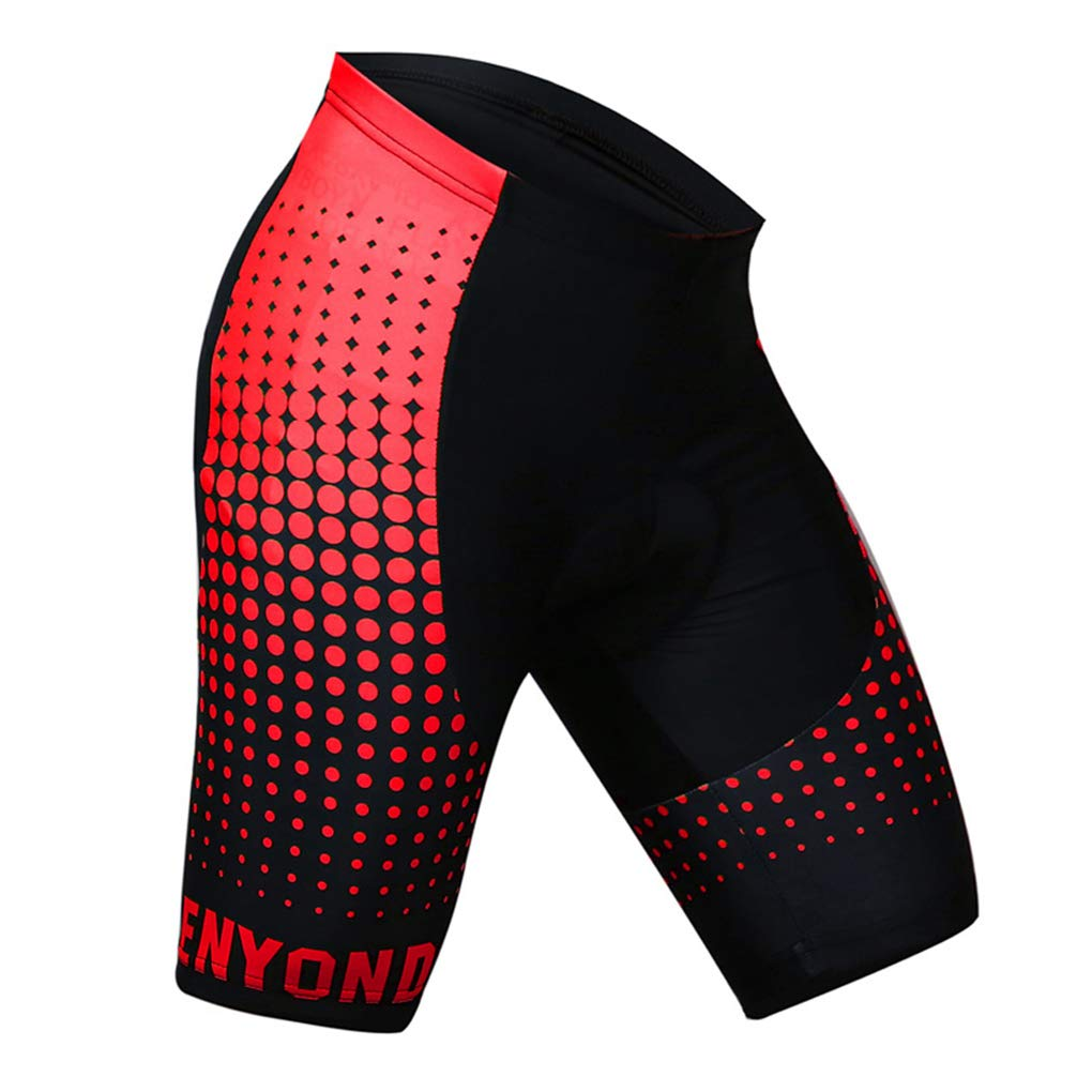 Men's Bike Shorts Breathable Gel 3D Silicone Padded Riding Bicycle Cycling Underwear Summer Short Pant