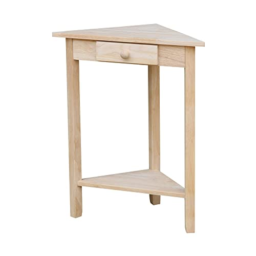 International Concepts Corner Accent Table, Unfinished
