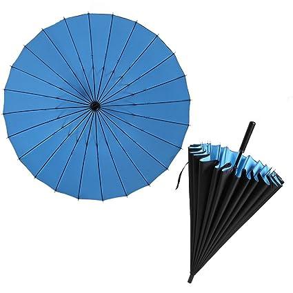XWGVS Paraguas de mango largo, paraguas para el sol, paraguas anti-UV,
