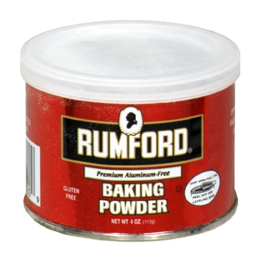 Rumford Baking Powder, Gluten Free, Aluminium Free 4 oz (Pack of 2)