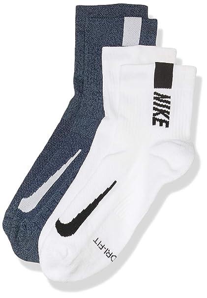 Nike U Nk Mltplier Ankle 2pr Socks, Unisex Adulto