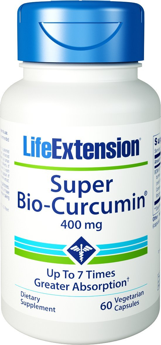 Life Extension Super Bio-curcumin, 400mg, Vegetarian Capsules, 60-Count