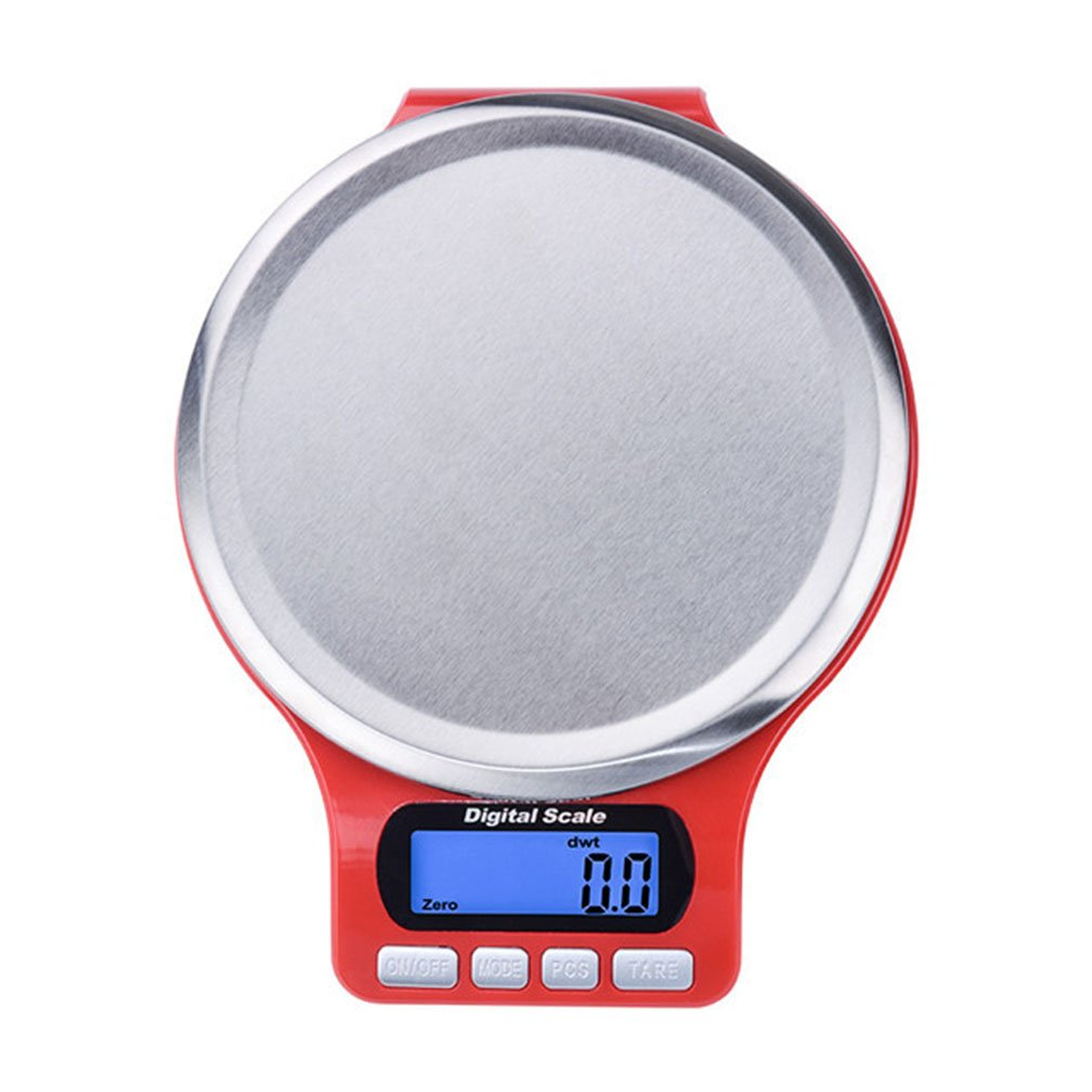 lerda pe Digital Kitchen Scale 3kg Mini balanzas electrónicas con Pantalla LCD, baterías operadas, Rojo: Amazon.es: Hogar