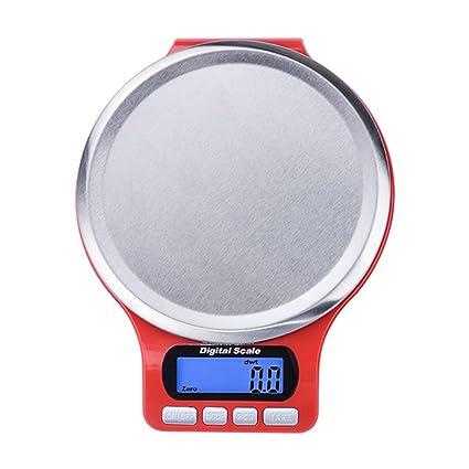 lerda pe Digital Kitchen Scale 3kg Mini balanzas electrónicas con Pantalla LCD, baterías operadas,