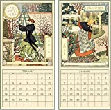 2018 French Country calendar with silk ribbon and bow