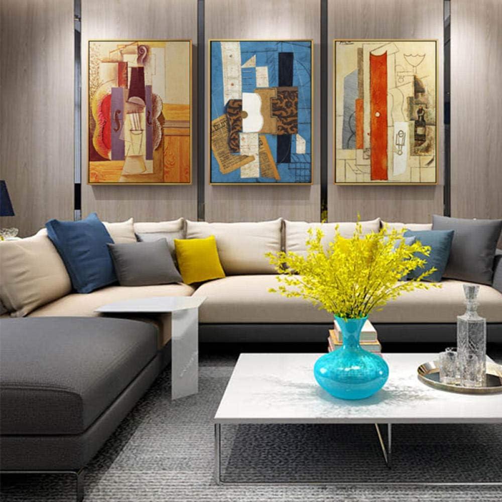 RuYun Picasso mundialmente Famoso Guitarra Abstracta Lienzo Pintura Carteles e Impresiones Pared Arte Cuadros para Sala de Estar Dormitorio decoración del hogar 40cm_x60cm_No_Frame