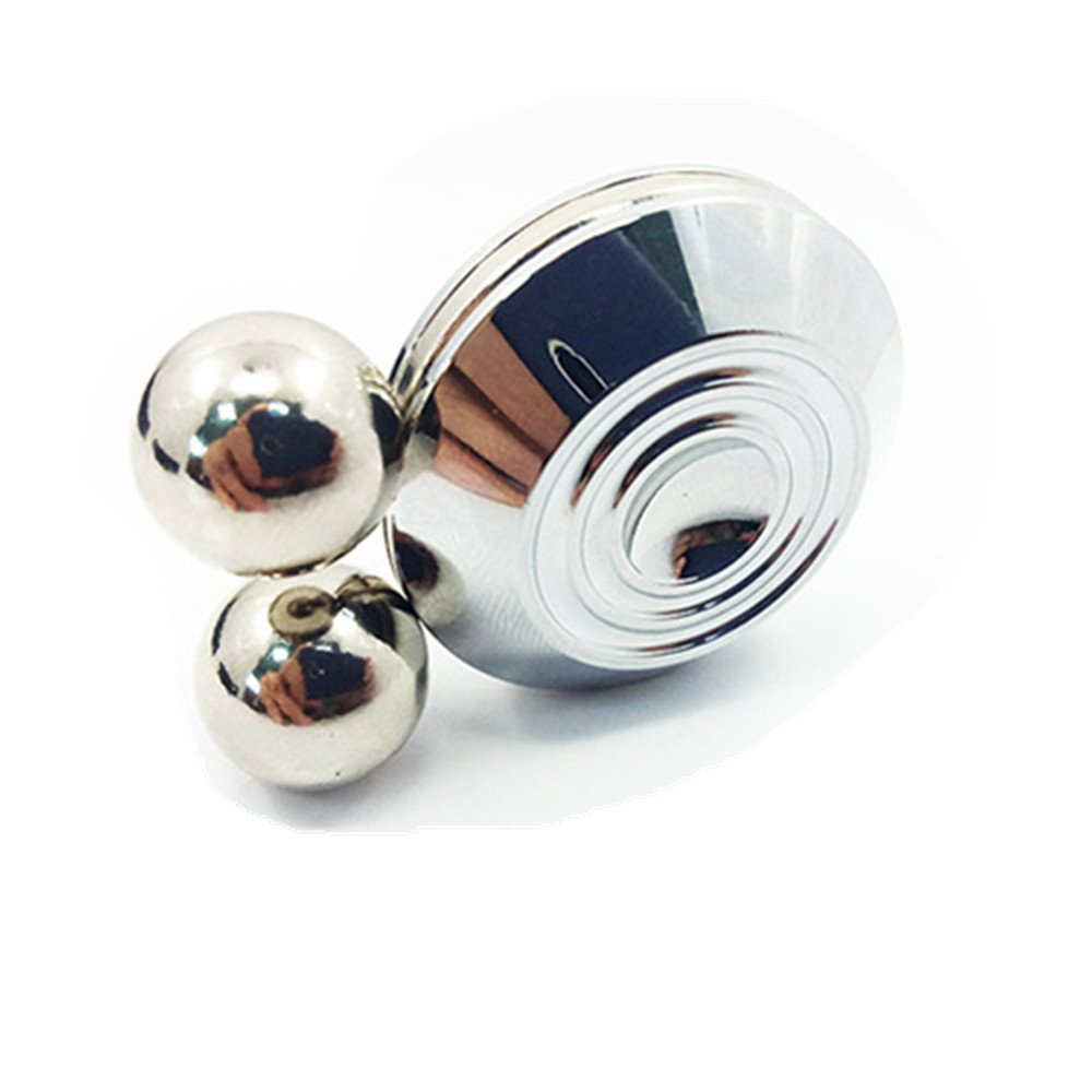 DoDoMagxanadu Newest Orbiter Fidget Toy Magnetic Orbit Ball Spinner Toy with Two Balls ADHD Focus Anxiety Relief Anti Depression Toy Sliver Mx