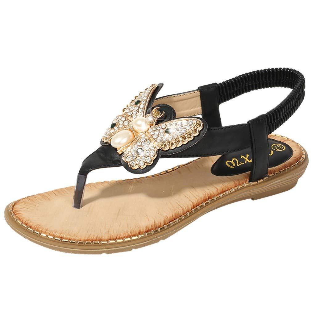 LYN Star✨ Ladies's Shoes Signature Sandal: Comfort Walking Ergonomic Flip Flops, Slides & Sandals for Women Black