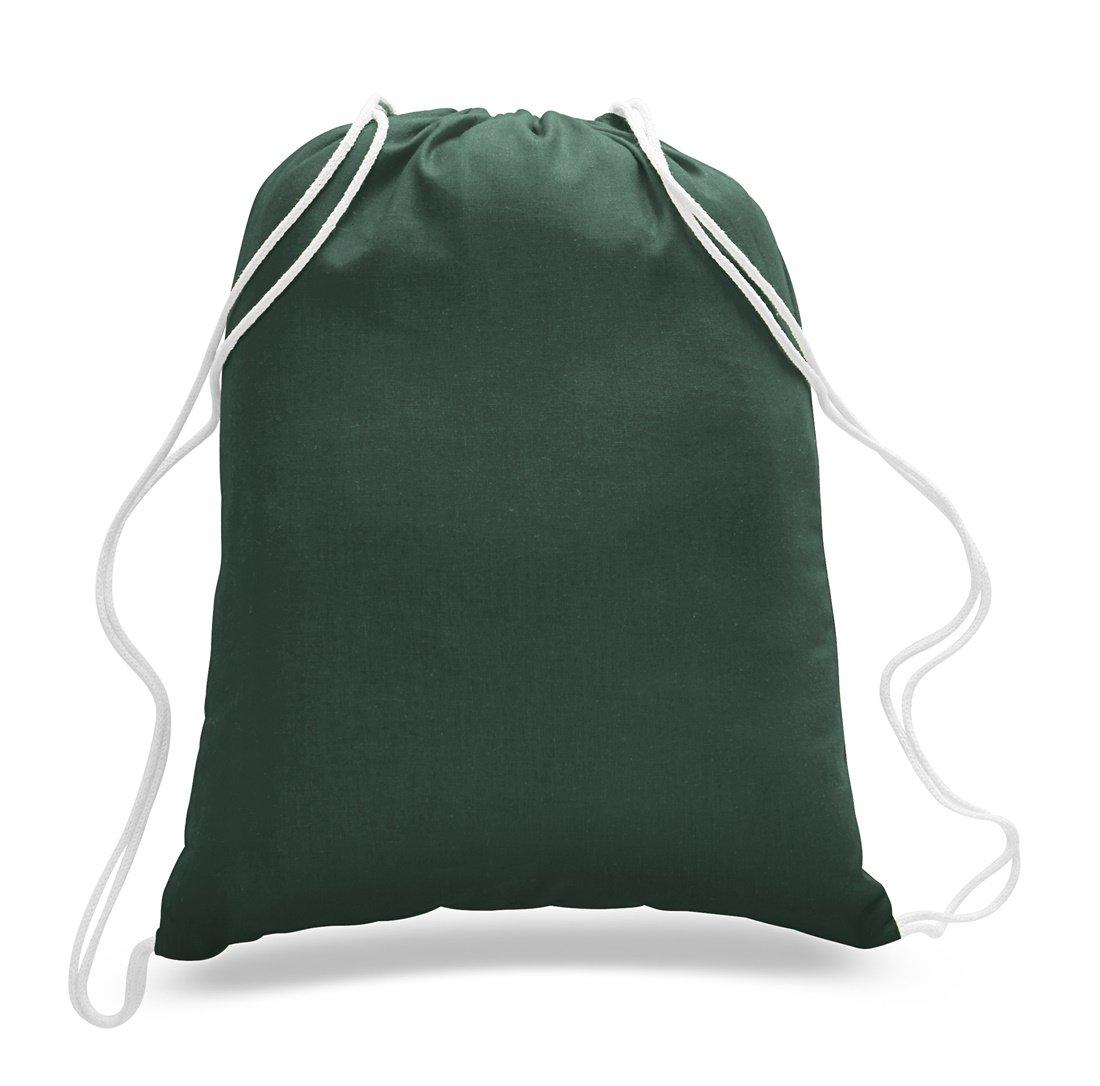 ( 36 Pack ) 3ダース – 経済的なコットンスポーツドローストリングバッグCinchパックby ToteBagFactory B073R1V34K フォレストグリーン フォレストグリーン