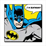 "Batman - DC Comics Art Print / Comic Poster (I'm Batman!) (Size: 16"" x 16"")"