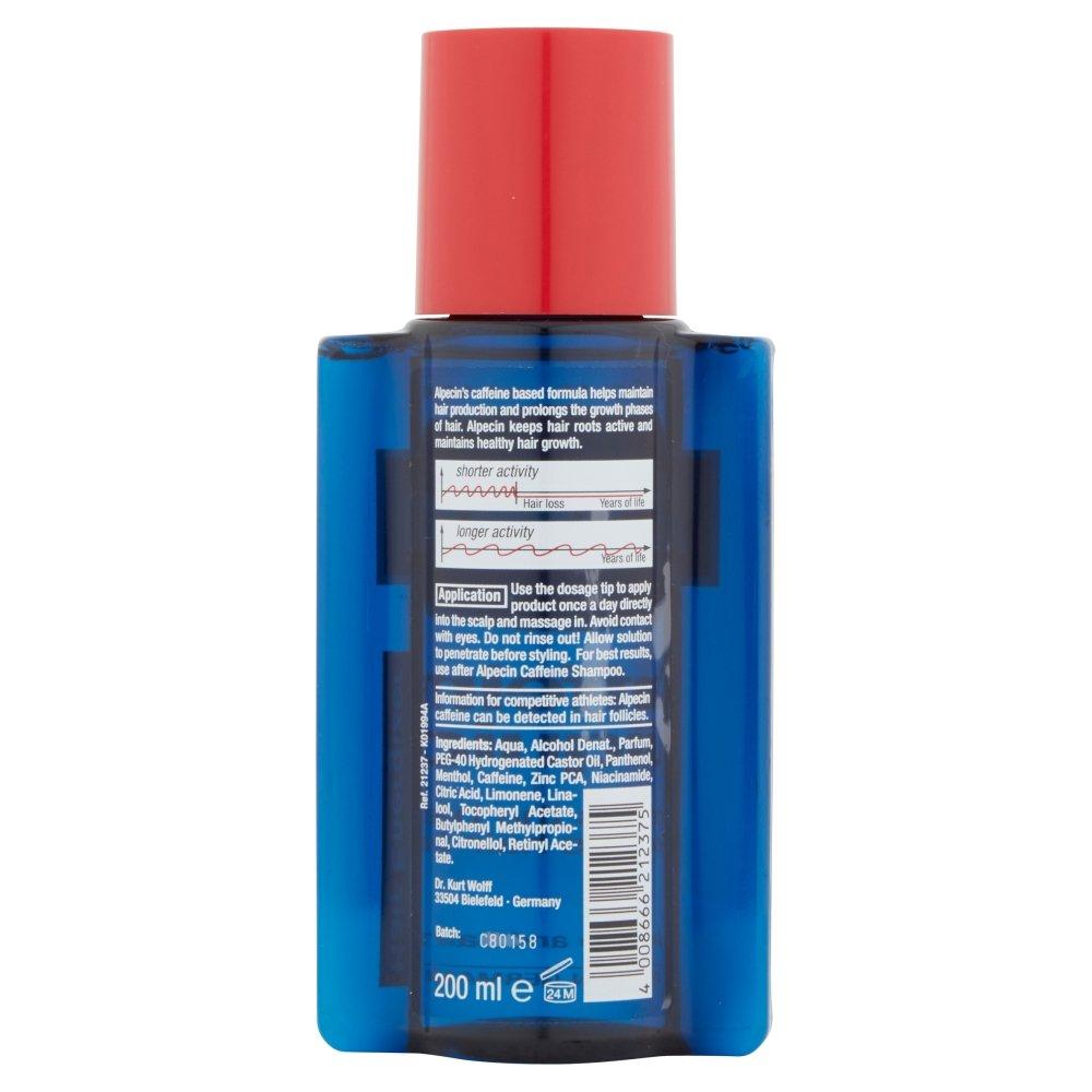 Alpecin Caffeine Liquid Hair Energizer - Líquido revitalizante con cafeína para después del lavado, 200 ml: Amazon.es: Belleza
