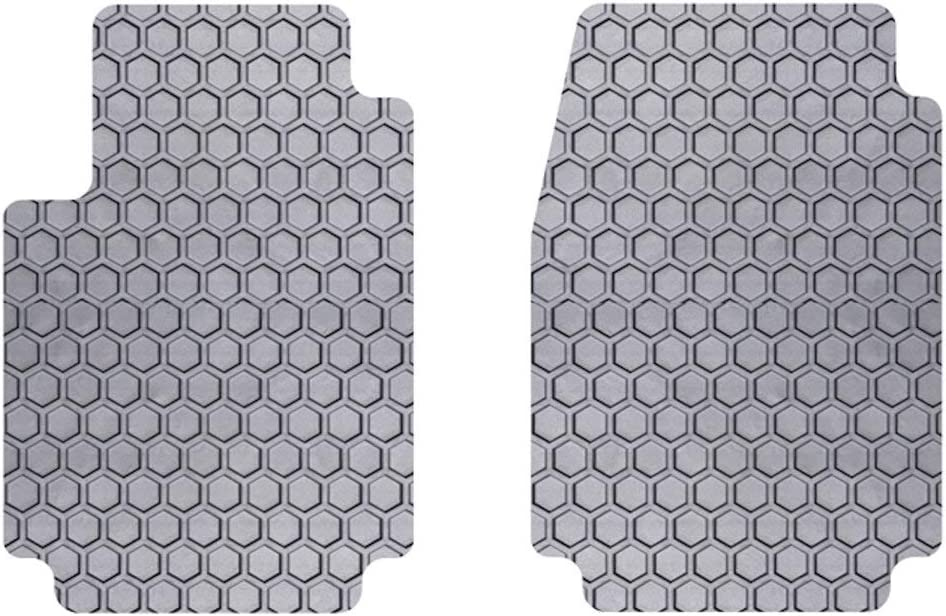 Rubber-Like Compound Custom Fit Auto Floor Mats for Select Infiniti Q60 Models Intro-Tech IN-675F-RT-G HexoMats Front Row 2 pc Gray